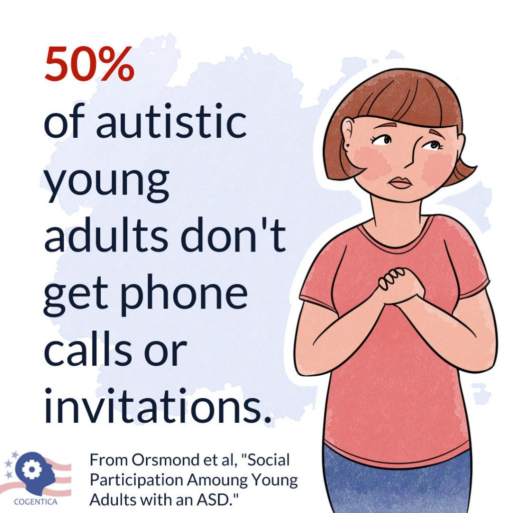 50% of autistic young adults don't get phone calls or invitations